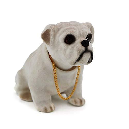siyaful Bobbing Head Dog-Bobble Head Auto Car Dashboard Decors Toy Bulldog English Bulldog