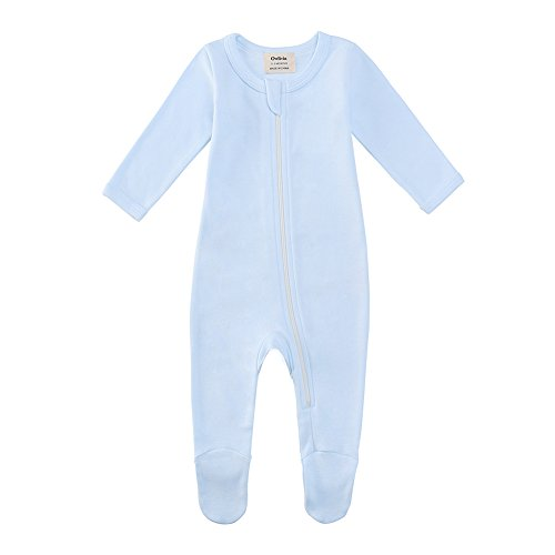 Owlivia Organic Cotton Baby Boy Girl Zip Front Sleep 'N Play, Footed Sleeper, Long Sleeve