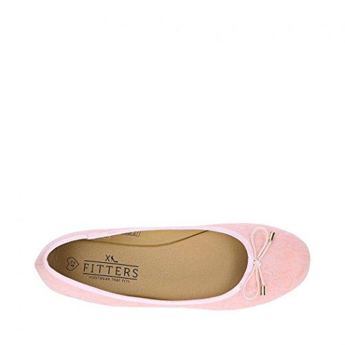 Fitters Ballerine Rosie Light Rose métallisé