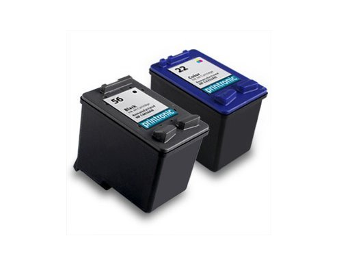 2pk Axiom Remanufactured Compatible Ink Cartridge For HP 22 56 C6656AN C9352AN Black Color Ink Cartridge