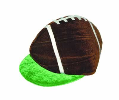 Plush Football Hat Pkg/12