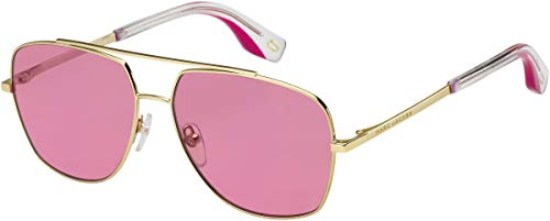 Red Marc Jacobs Sunglasses - Marc Jacobs Women's Aviator Sunglasses, Gold