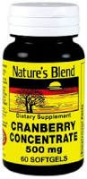 Nature's Blend Cranberry Concentrate 500 mg 60 Sgels Blend Concentrate