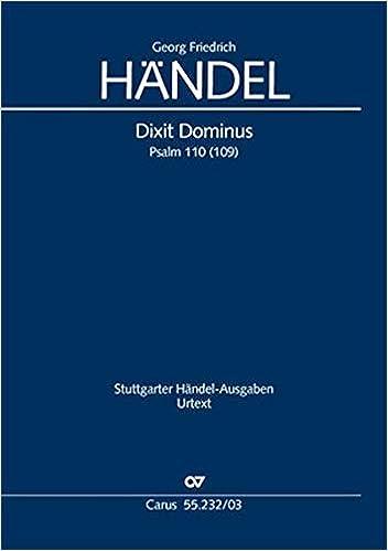 Händel, G: Dixit Dominus: Amazon.es: Libros en idiomas extranjeros