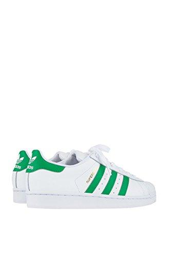 Scarpe Da Donna Adidas Originali Superstar Bianco / Verde / Oro Metallizzato