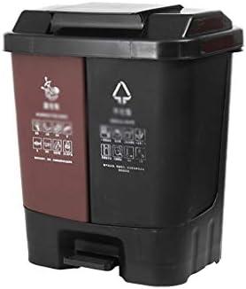 滑らかな表面 屋外のゴミ箱、ペダルプラスチックごみ箱で蓋ベッドルームキッチンリビングルーム廊下多機能のごみ箱 リサイクル可能なデザイン (Color : A, Size : 80L)