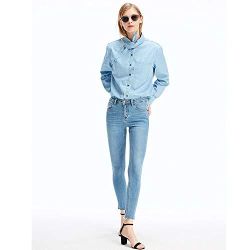 Donna Due Azzurro Mvguihzpo Corpo M Jeans Pantaloni S Colori Jeans Elastico Vita 7Ha5wZXq