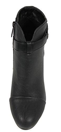 Stivaletti Con Tacco In Caviglia In Finta Pelle Breckelle Da Donna, Nero, 10 M Us (10 M, Nero)