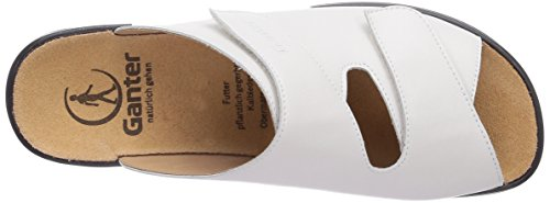 Ganter Monica, Weite G 3-202501-30300 - Zuecos de cuero para mujer Blanco
