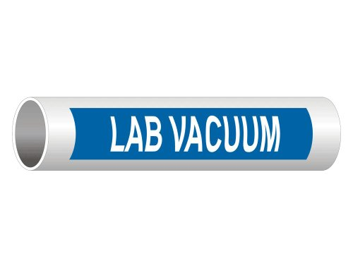 ComplianceSigns Vinyl ASME A13.1 Medical Gasses Pipe Label, 8 x 2 Inch Blue 5-pack ()