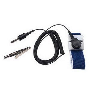 3M Wrist Strap, 2272, Blue, Adjustble, 4mm Snap, 5' Cord