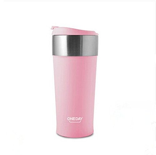 Pink Stainless Steel Coffee Mug Travel Mug Bottle Thermal Cup 13Oz by Travel Mugs