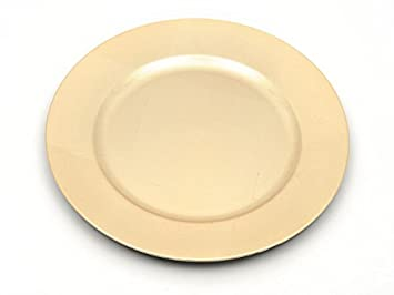 red, 2 Set of Charger Plates in Gold Silver or Red Choose 2 4 or 6 Plate Quality Table Accessories from Homestreet