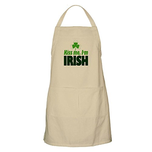 CafePress Kiss Me I'm Irish Apron Kitchen Apron with Pockets, Grilling Apron, Baking Apron