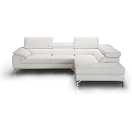 J And M Furniture 18275 RHFC Olivia Premium Leather Sectional In Chaise