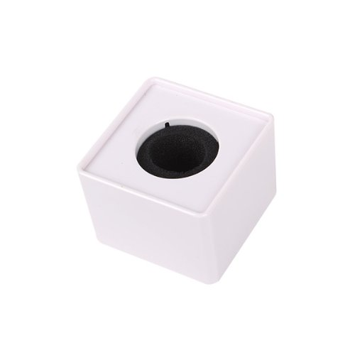 """BQLZR Portable Mic Microphone Interview Square Cube Logo Flag Station White 1.54"""" Hole"""