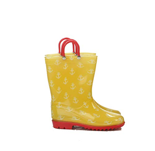Silky Toes Girls Rain Boots for Kids, Waterproof Toddler Little/Big Kids Classic Wellies (10 Toddler, Anchor)