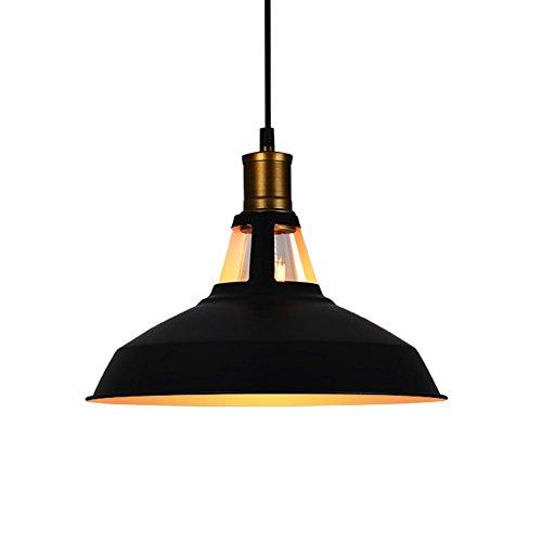 Lámpara De Techo Circular Retro, OOFAY Lámpara De Techo Para Comedor De Isla De Cocina Negro 12'X9'