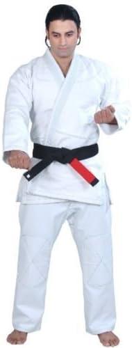 Good Luck Jiu Jitsu着物ゴールド織りホワイト4 a2 noロゴPlain