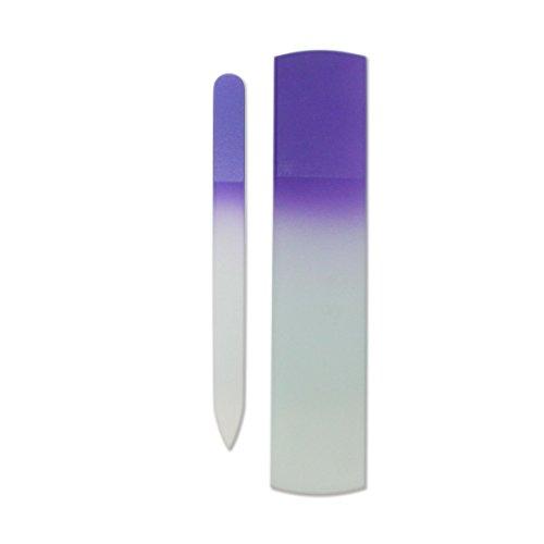Genuine Crystal Manicure Pedicure Purple