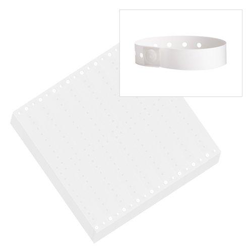 White - Wristco Plastic Wristbands - 100 Ct.