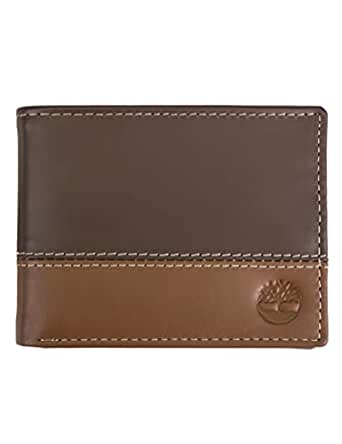 Timberland Men's Hunter Colorblocked Passcase, Brown/Tan, One Size