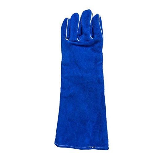 IRVING Fire Resistant Gloves Leather,Mitts Perfect for Fireplace, Stove, Oven, Grill, Welding, BBQ, Mig, Pot Holder, Animal Handling (Size : L) by IRVING (Image #2)