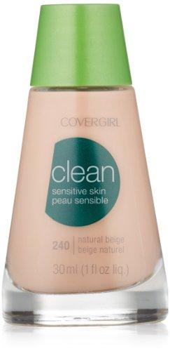 (CoverGirl Clean Sensitive Skin Liquid Makeup, Natural Beige (N) 240, 1.0-Ounce Bottles (Pack of 2))