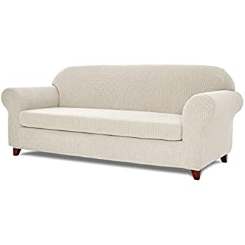 Amazon Com Toyabr 2 Piece Jacquard Stretchy Fabric Sofa