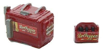 - HO Scale Custom Chest Type Soda Machine w/Case -- Dr. Pepper