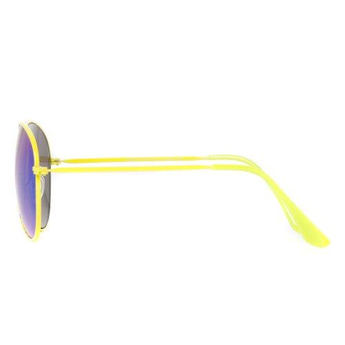 amarillo los aviador espejos Gafas sol dobles con tipo de de de color Accessoryo ne hombres TKaqOT