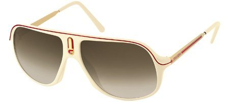 Carrera Safari/R Cream / Gold / Red Frame/Brown To Grey Lens Plastic - Safari Sunglasses Carrera