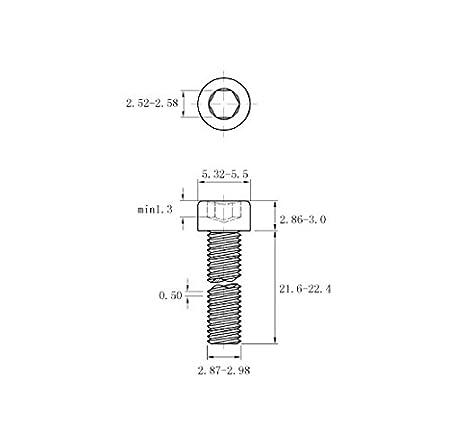 FullerKreg M3-0.5 x 10mm Alloy Steel Socket Cap Screw, Black Oxide Finish pkg of 100 ,ISO 4762,Hex Drive,Class 12.9
