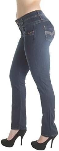 FCH159BT – Colombian Design, Butt Lift, Levanta Cola, Mid Waist, Boot Leg Jeans