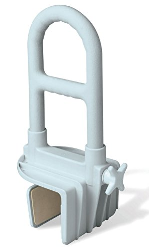 Medline MDS86321WPMB Deluxe Clamp-on Bath Tub Safety Bar with Microban (Pack of 2)