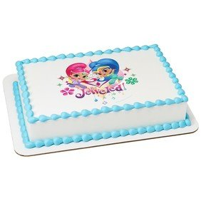 Shimmer y shine-be Jeweled Pastel Comestible 1/4 Hoja imagen ...