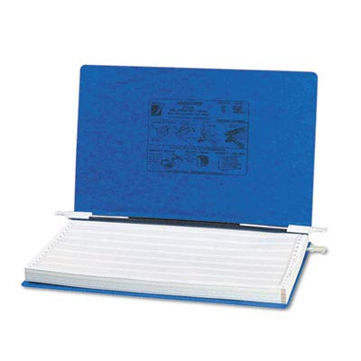 ACCO Products - ACCO - Pressboard Hanging Data Binder, 14-7/8 x 8-1/2 Unburst Sheets, Dark Blue - Sold As 1 Each - Top and bottom loading binder expandable for various sized projects. - Retractable storage hooks for single point or drop file hanging systems. - Adjustable flexible nylon posts allow maximum capacity with minimum storage space. - Embossed PRESSTEX acrylic-coated pressboard cover resists moisture and scuff marks. -