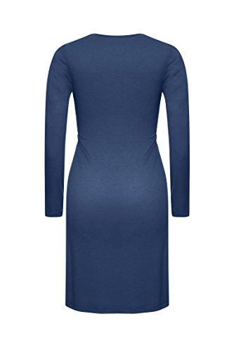 Bellybutton, Camisa de Pijama Premamá para Mujer Blau (black 3800)