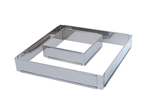 Pastry Frame - ADJUSTABLE PASTRY FRAME in Stainless Steel, Square 12 x 12 x 2 to 22.5