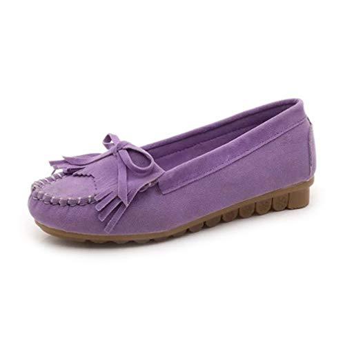 Mocasines Redonda Borla Casuales Zapatos Mujeres Las Ocio en de Punta de de Antideslizantes los Zapatos de Deslizamiento Planas oto o 78xw8fdPq