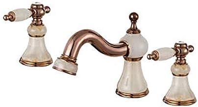 Honana 蛇口, 蛇口蛇口の洗面化粧台ダブルハンドルステンレス鋼の蛇口を使用し毎日、耐久性に優れました キッチン蛇口 混合水栓