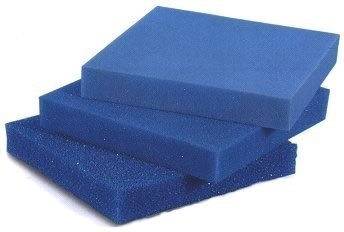 Filterschaum Filtermatte - Blau 50 x 50 x 3 cm 'grob' (ppi 10)