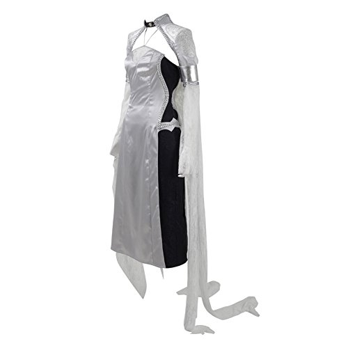 CosDaddy ® Lunafreya Kleid Party Weiße Silbrig Lesbie Damen Allerheiligen Kostüme