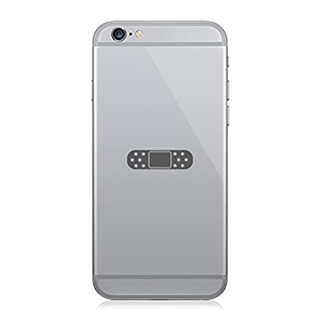 Pair of band aid cell phone stickers mobile bandaid jdm grey
