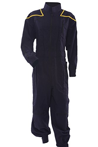 Allten Men's Costume Star Trek Enterprise Uniform Jumpsuit XL -