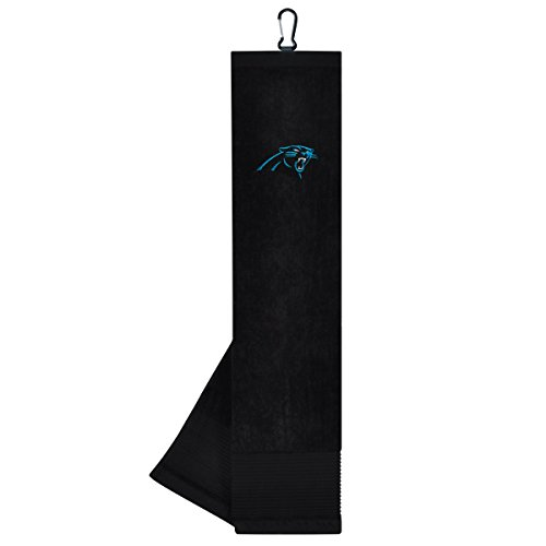 Panther Face (Team Effort NFL Carolina Panthers Face/Club Tri-Fold Embroidered Towel)