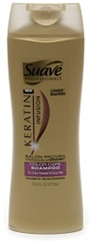 Suave Professionals Keratin Infusion Color Care Shampoo 12.60 oz (Pack of 2) (Suave Keratin Infusion Smooth & Shine Serum)