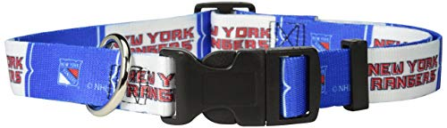 Hunter Mfg. LLP NHL New York Rangers Adjustable Pet Collar, Team Color, Small