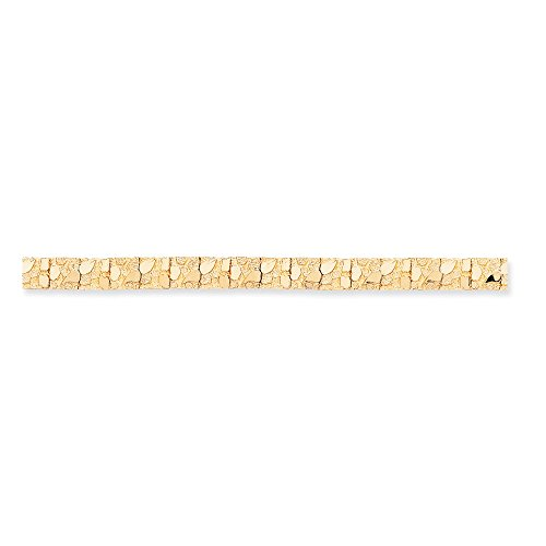 14K Yellow Gold 9.5mm Nugget Bracelet