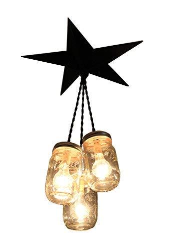 3 Mason Jar Pendant Light in US - 3